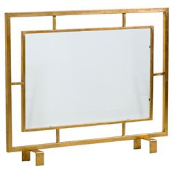 Tessa Hollywood Regency Antique Brass Rectangle Fire Screen