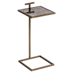 Interlude Soren Global Bazaar Brown Vellum Square Drink Table