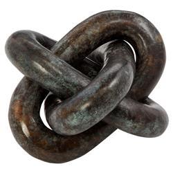 Interlude Interlude Wynn Modern Classic Rustic Bronze Knot Sculpture