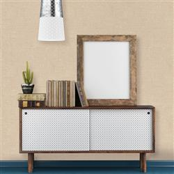 Burlap Textured Industrial Loft Natural Removable Wallpaper