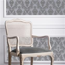 Damask Modern Classic Blue Light Grey Removable Wallpaper