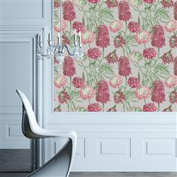 Hydrangea Modern Classic Blush Removable Wallpaper