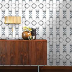 Kaleidoscope Modern Classic Zinc Removable Wallpaper