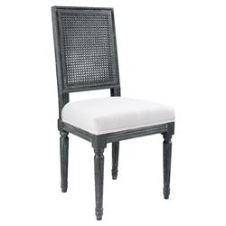 Elizia French Country Grey Woven Dining Side Chair
