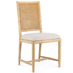 Bungalow 5 Aubrey French Country Brown Woven Mahogany Dining Side Chair