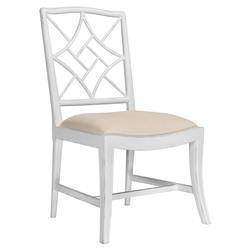 Lombard Hollywood Regency White Rustic Dining Chair