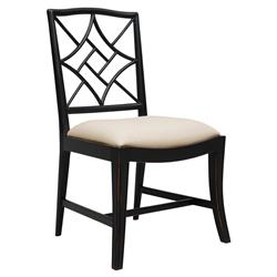 Lombard Hollywood Regency Black Rustic Dining Chair