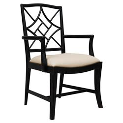 Lombard Hollywood Regency Black Rustic Armchair