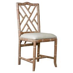 Bungalow 5 Hampton Hollywood Regency Bamboo Fret Oak Dining Chair