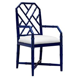 Bungalow 5 Jardin Hollywood Regency Blue Bamboo Armchair