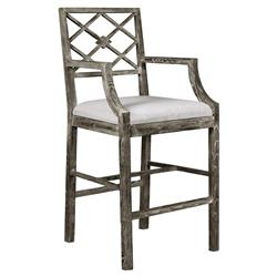Armin French Country Grey Limed Counter Stool