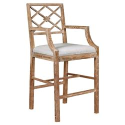 Armin French Country Natural Limed Counter Stool