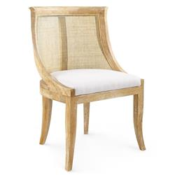 Bungalow 5 Monaco French Country Limed Oak Curved Cane Side Chair