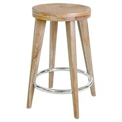 Gerhard Modern Classic Natural Beige Wood Counter Stool