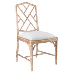 Landis Hollywood Regency Washed Bamboo Dining Chair