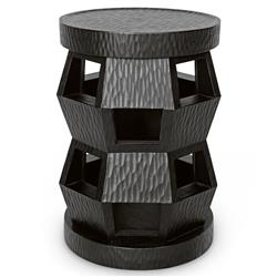 Bungalow 5 Zanzibar Global Bazaar Textured Midnight Mahogany Side Table