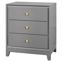 Walt Modern Classic Gold Grey Lacquered Nightstand