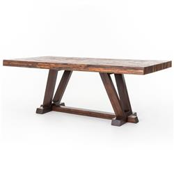Leanna Rustic Lodge Layered Salvaged Wood Dining Table