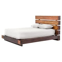 Cindy Rustic Lodge Salvaged Peroba Wood Slat Bed - Queen