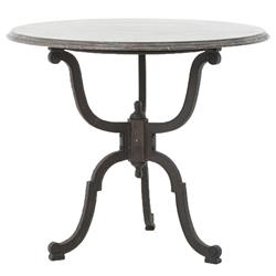 Jaylen Modern Classic Cast Iron Bluestone Bistro Dining Table
