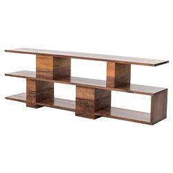 Kylan Rustic Modern Walnut Peroba Wood Console
