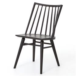 Lara Modern Classic Black Oak Dining Chair