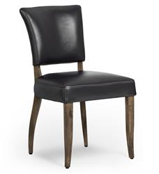Melba Modern Classic Black Leather Dining Chair