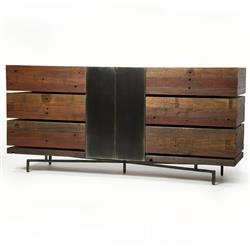 Don Rustic Modern Reclaimed Wood Metal Dresser