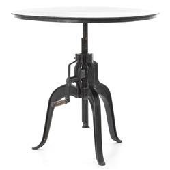 Fergie Industrial Loft Antique Iron Crank Side Table