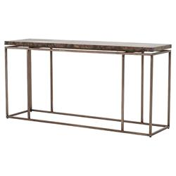 Rollins Industrial Loft Bronze Iron Console Table