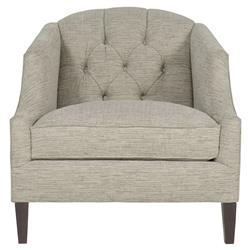 Juliet Hollywood Regency Tufted Grey Tweed Chair
