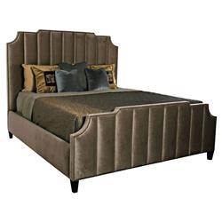 Tatra Modern Classic Mushroom Column Upholstered Bed - King