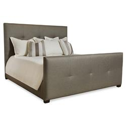 Renner Modern Classic Crisp Grey Tufted Bed - Queen