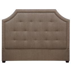 Cressida Modern Upholstered Moss Brown Queen Headboard