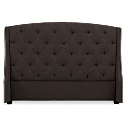 Macchiato Modern Brown Tufted Wing Queen Headboard