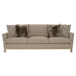 Ernie Modern Classic Brown Beige Oak Sofa