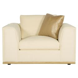 Luna Modern Classic Matte Gold Ivory Arm Chair