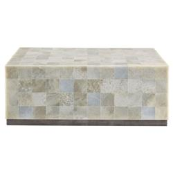 Trumbull Modern Global Stone Tile Coffee Table