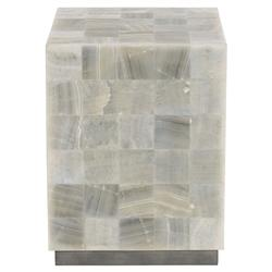 Trumbull Modern Global Stone Tile Side Table