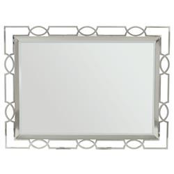 Gretta Radiant Hollywood Regency Polished Nickel Rectangular Mirror