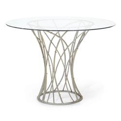 Emma Modern Round Wrought Iron Outdoor Dining Table | Kathy Kuo Home