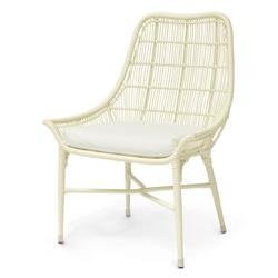 Willow Modern Classic Cream Outdoor Chair - Salt