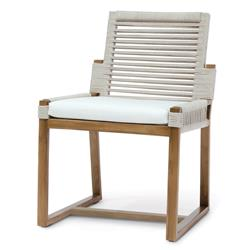 Palecek San Martin Coastal Beach Salt Rope Wrapped Outdoor Side Chair