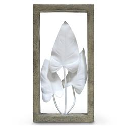 Palecek Indoor Coastal Beach Anthurium Leaves Shadow Box