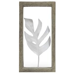 Palecek Indoor Coastal Beach Monstera Leaf Shadow Box