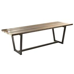 Jed Industrial Loft Rustic Wood Iron Dining Table