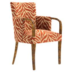 Omari Global Bazaar Ruby Zebra Wood Arm Chair