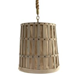 Frasier French Country Provincial Linen Basket Pendant