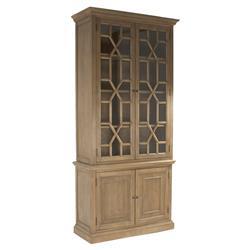 Branford Rustic Lodge Geo Wood Pane Cabinet