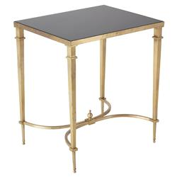 Fairfax Global Regency Antique Brass Granite End Table
